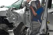 IIHS Front overlap crash test