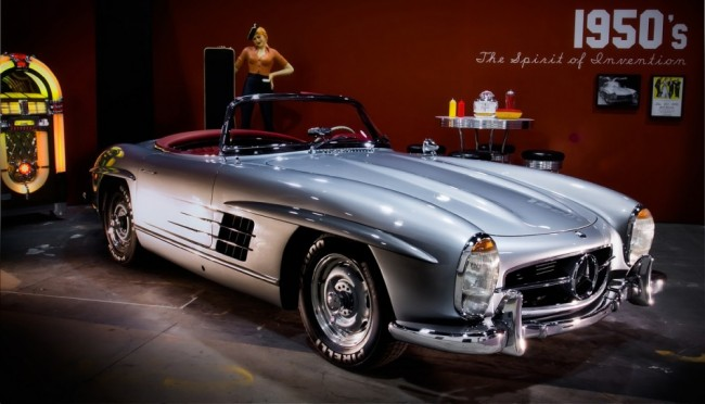 Mercedes-Benz SL on Display in the Retrospect