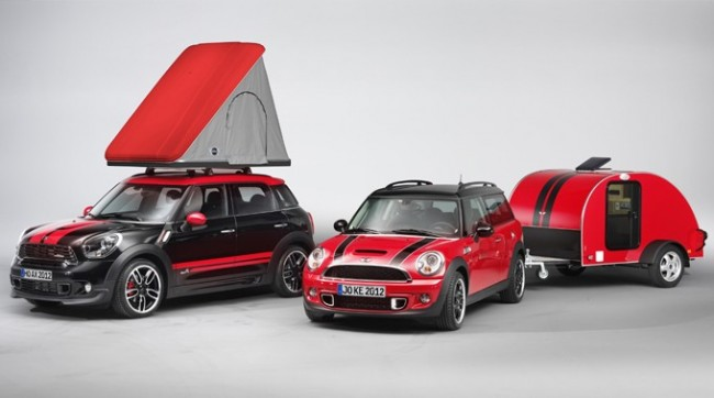 MINI 2012 April Fool's Hoax - Swindon Roof Top Tent and MINI Cowley Caravan