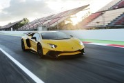 2016 Lamborghini Aventador LP 750-4 Superveloce on track sunset