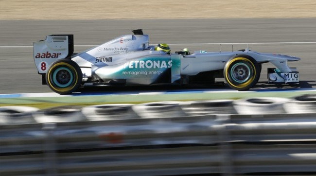 Formula One - MERCEDES AMG PETRONAS, Jerez Test. 7th-9th February 2012. Nico Rosberg