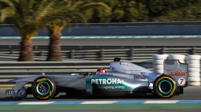 Formula One - MERCEDES AMG PETRONAS, Jerez Test. 7th-9th February 2012. Michael Schumacher
