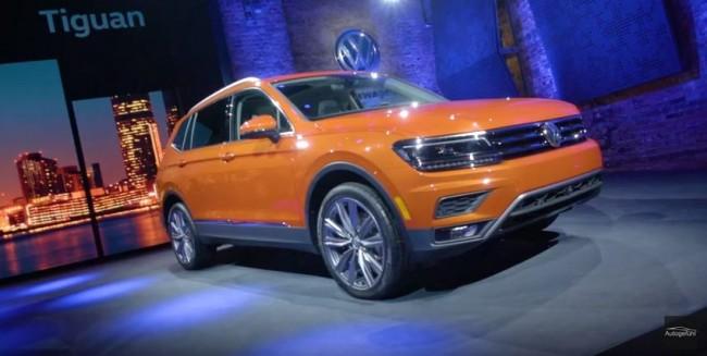 VW Tiguan Allspace (US LWB version) Volkswagen SUV Premiere review all-new