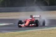 Sebastian Vettel Testing New 2017 Pirelli Wet Tyres On a Modified Ferrari SF15-T F1 Car
