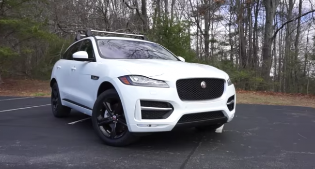 2017 Jaguar F-Pace 35t R-Sport: Start Up, Exhaust Walkaround and Review
