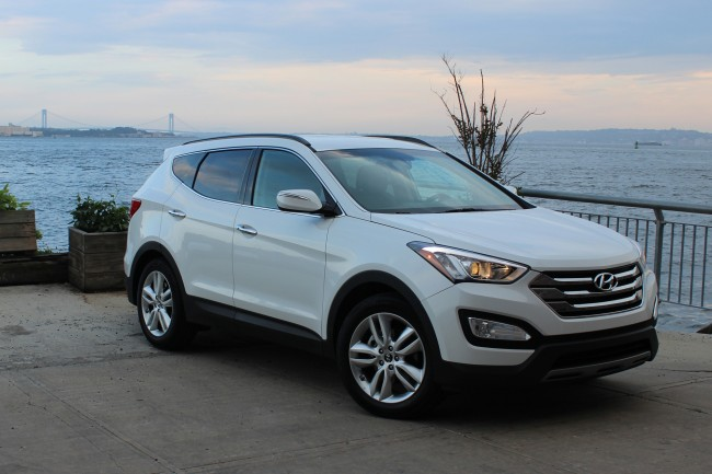 2015 Hyundai Santa Fe Sport 2.0T front ~ There's a lot to like in the 2015 Hyundai Santa Fe Sport, as seen here with standard 18-inch wheels.